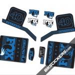 Fox Factory 40 2016 stickers kit Black Forks - Blue - Bkstickers.com