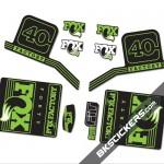 Fox Factory 40 2016 stickers kit Black Forks - green - Bkstickers.com