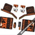 Fox Factory 40 2016 stickers kit Black Forks - orange - Bkstickers.com