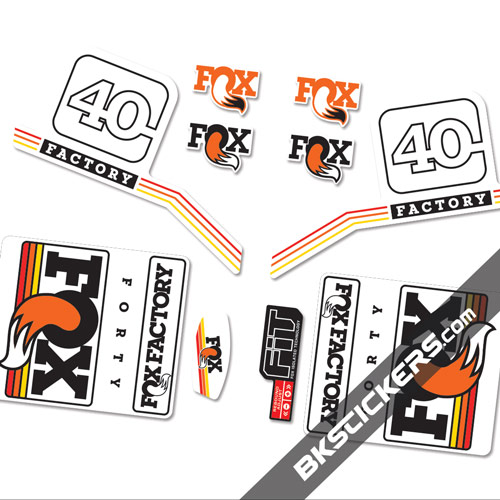 Fox Factory 40 2016 Standard stickers kit orange