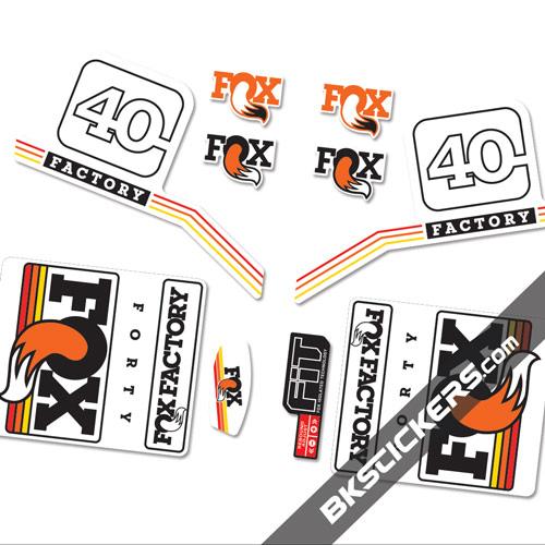 Fox Factory 40 2016 Standard stickers kit orange