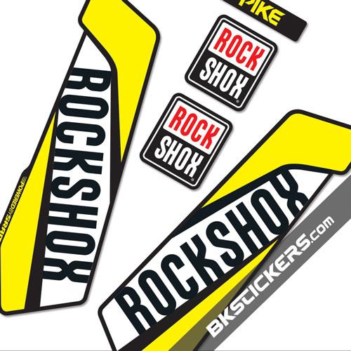 Rockshox Pike 2016 - Bkstickers fork stickers