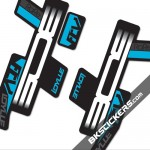 BOS Idylle RaRe FCV Stickers kit Black Forks - bkstcikers