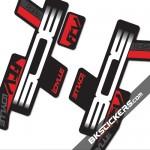 BOS Idylle RaRe FCV Stickers kit Black Forks - bkstcikers