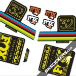 Fox Factory 32 Limited Edition stickers kit Black Forks