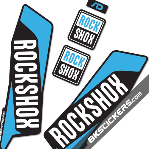 Rockshox SID 2016 Stickers Kit Black Forks - bkstickers.com