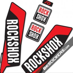 Rockshox SID 2015 Stickers Kit Black Forks - bkstickers.com