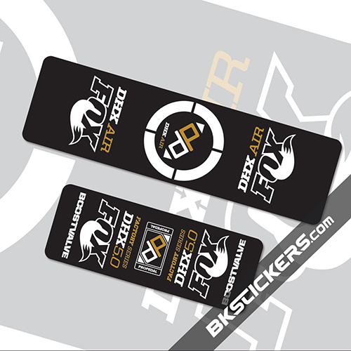 Fox DHX Air 5 Stickers kit Rear Shocks