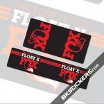 Fox Float X Stickers kit Rear Shocks
