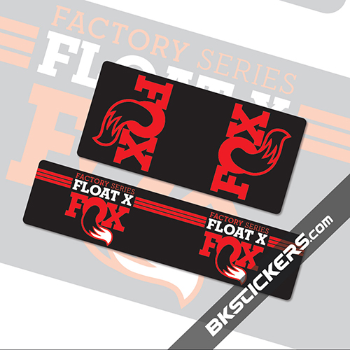 Fox Float X Stickers kit Rear Shocks