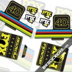 Fox Factory 40 Limited Edition stickers kit Black Forks - bkstickers.com
