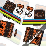 Fox Factory 40 Limited Edition stickers kit Black Forks
