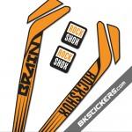 Rockshox RS-1 Brain Stickers kit Black Forks - bkstickers.com