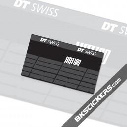 DT SWISS XM180 Stickers kit Rear Shocks