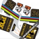 Fox Factory 34 Limited Edition stickers kit Black Forks