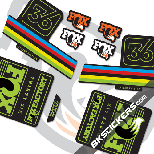 Fox factory 36 limited edition stickers kit black forks