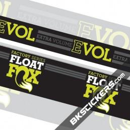 FOX Factory Float Evol Stickers Kit Rear Shock - bkstickers.com