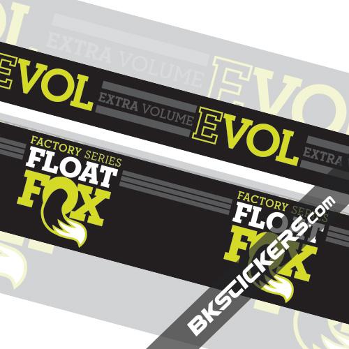 FOX Factory Float Evol Stickers Kit Rear Shock