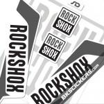 Rockshox SID 2016 Stickers Kit White Forks