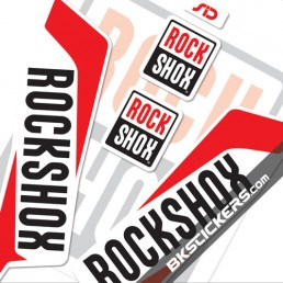 Rockshox SID 2016 Stickers Kit White Forks