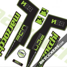 Marzocchi 350 NCR Decals Black Forks Kit - bkstickers.com