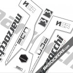 Marzocchi 350 NCR Decals White Forks Kit - bkstickers.com