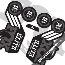 FOX 2016 32 Elite Decals kits Forks - bkstickers.com