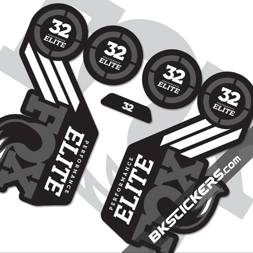 FOX 2016 32 Elite Decals kits Forks - bkstickers.com