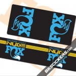 FOX Shox Nude Decals Kit Rear Shock - bkstickers.com