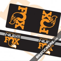 FOX Shox Nude Decals Kit Rear Shock - bkstickers.com