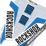 Rockshox Recon 2016 Decals Kit White Forks - bkstickers