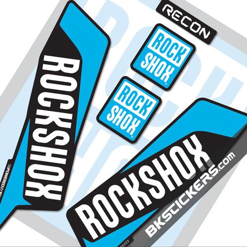 Rockshox Recon 2016 Decals Kit Black Forks