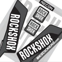 Rockshox Recon 2016 Decals Kit Black Forks - bkstickers