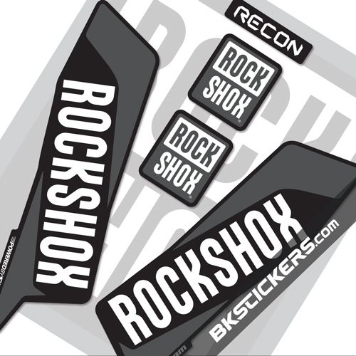 Rockshox Recon 2016 Decals Kit Black Forks - bkstickers