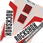 Rockshox Recon 2016 Decals Kit White Forks - bkstickers.com
