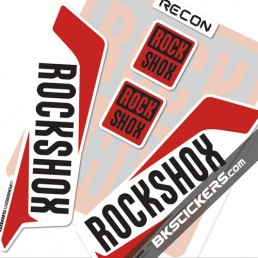 Rockshox Recon 2016 Decals Kit White Forks - bkstickers.com
