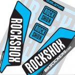 Rockshox Revelation 2016 Decals Kit Black Forks bkstickers