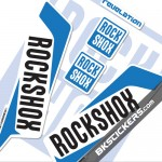 Rockshox Revelation 2016 Decals Kit White Forks bkstickers