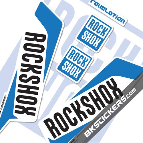 Rockshox Revelation 2016 Decals Kit White Forks bkstickers