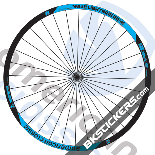 American Classic Wide Lightning 29er Decals Kit - bksticker