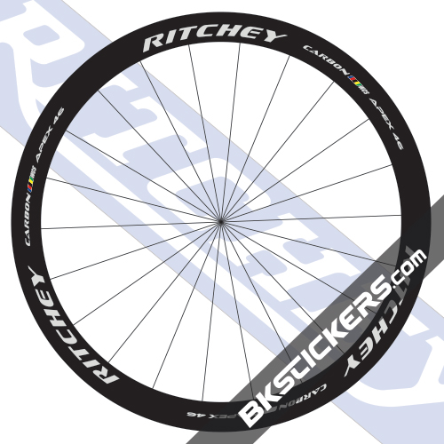 Ritchey WCS Apex 46 Carbon Decals kit - bkstickers.com
