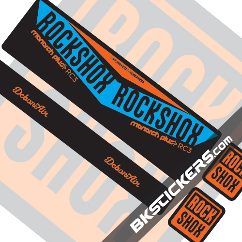 Rockshox Monarch V2 Decals kit Rear Shocks - bkstickers