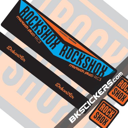 Rockshox Monarch V2 Decals kit Rear Shocks - bkstickers