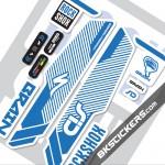 Rockshox SID Brain 2014 Stickers kit White Forks