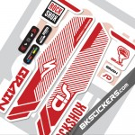 Rockshox SID Brain 2014 Stickers kit White Forks