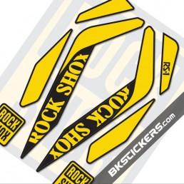 Rockshox RS-1 25th Ltd Edition Decals Kits - bkstcikers.com