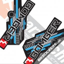 Marzocchi 888 Decals Black Forks Kit - bkstickers.com