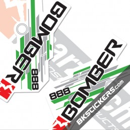 Marzocchi 888 Decals White Forks Kit, - bkstcikers.com