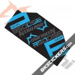 Marzocchi 053 S3C2R Decals kit Rear Shocks - bkstickers