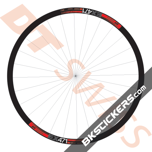 DT Swiss EX471 Bicycle 27.5 Rim Decal Wheel MTB Sticker Adhesive Set Pink 8 Pcs